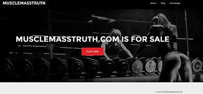 MUSCLEMASSTRUTH.com Domain name For Sale Perfect For The MuscleBuilding Niche
