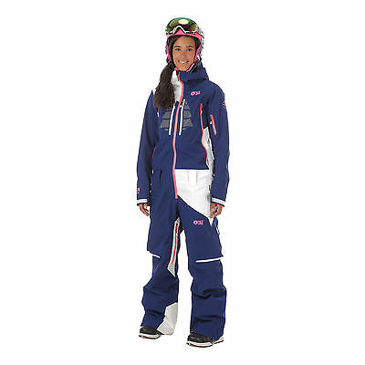 Picture Womens Moovy All In One Piece Suit Ski Snow Dark Blue White