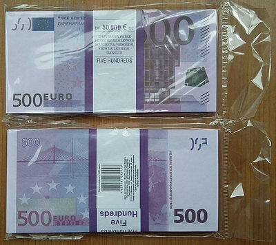 500 Euro 100pcs Paper Money FOR GAME