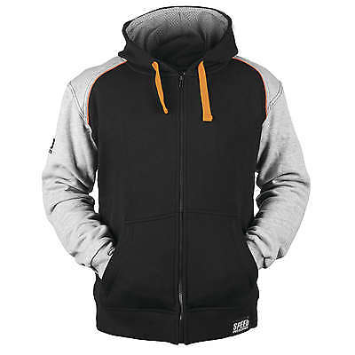 Speed and Strength Cruise Missle Armored Hoody Grey/Orange XL