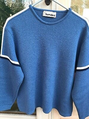 Men's Montant Pull Vintage Ski Sweater From France Size L