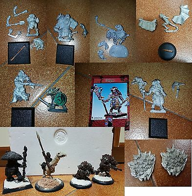 Lotto 13 miniature fantasy – 25/30 mm Heresy Miniatures, Hordes e altro