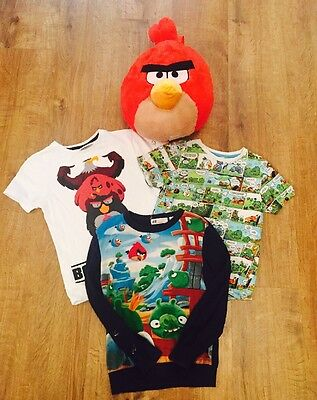Angry Bird Boys Clothes Bundle And Bag 6-8 Years