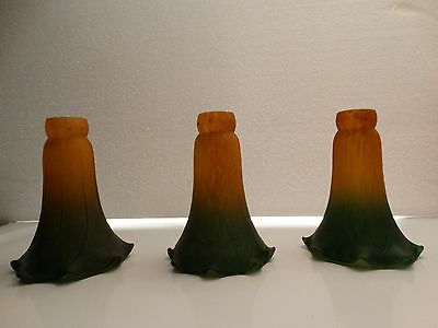 Lot  Three Vintage Glass Chandelier Lamp Shades