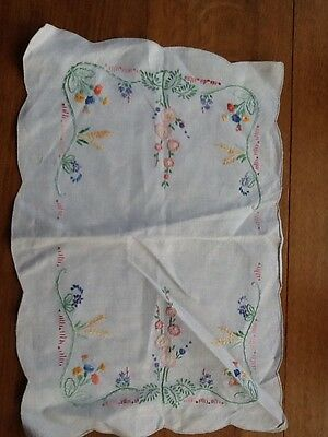 Linen Embroidered Tray cloth