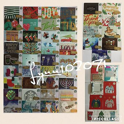 54 x 2016 STARBUCKS Christmas Holiday Card complete set Canada Version NEW