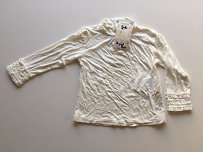 Mayoral Baby Girl Cream Long Sleeved Top with Frilled Cuffs BNWT Various Sizes