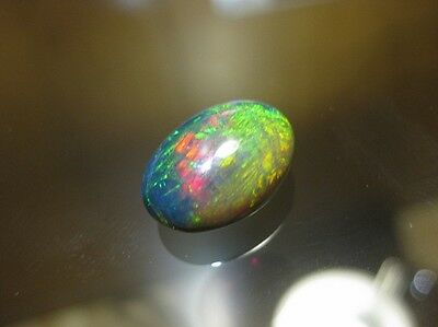 6.3ct Black Welo Opal - Stunning & Large Collectors Piece With Neon Colour Play