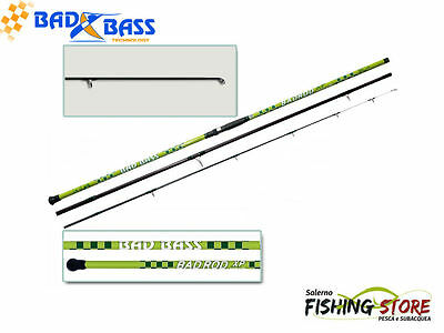 CANNA SURFCASTING BAD BASS BADROD XP 3 PZ 4.20 mt Azione 200 gr LUMINOS TIP NEW