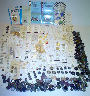 Vintage Buttons and other Sewing Notions  most on cards