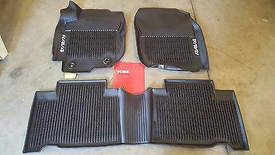 Oem Toyota Rav4 Hv 2016-2017 All-Weather Mats Pt908-42166-20