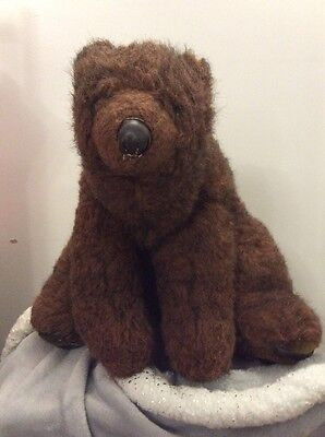 Vintage Large Brown Bear Soft Toy Length From Nose To Tail 25 Inches