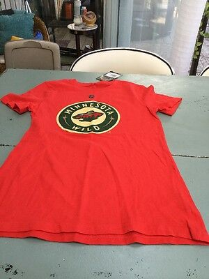 lowest price fa695 e9700 GEAR BRAND NHL Minnesota Wild Hockey Red T-Shirt, Men's XL ...
