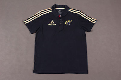 Official Adidas Munster Rugby Union Football Polo Shirt-Jersey - Size S -UK36/38
