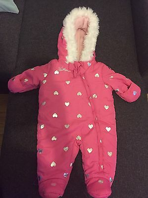 Baby Girl Snowsuit 6-9 Months