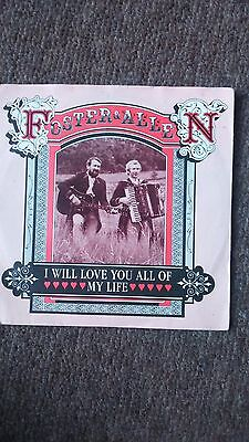 """Foster and Allen - I will love you/Nancy Myles 7"""" vinyl 45 in pic sleeve"""