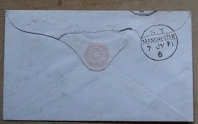 gb postal manchester s.t.1871