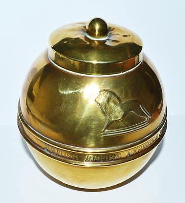 Old Liptons Metal Tea Caddy From The 1924 British Empire Exhibition .