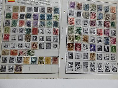 Lot of 218 Spain postage stamps 1873-1970's