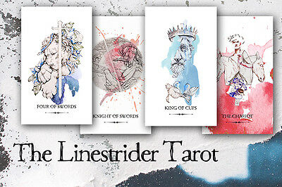 The Linestrider Tarot Card Deck by Siolo Thompson (NEW in plastic)