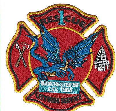 Manchester Fire Dept. Rescue 1 Citywide Service (Nh)  Fire Patch