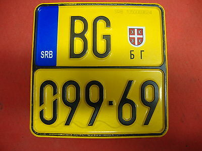 License plate SRB Serbia MOPED to 50ccm