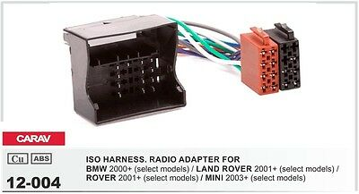 Carav 12-004 Iso Oem Harness Radio Connector Adapter Bmw Land Rover Range Mini