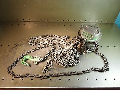 Jet L-80 1/2 Ton 1000 pound Manual Chain Lift Hoist Winch, Used Good Condition