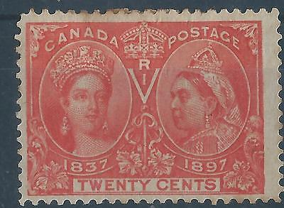 Canada 1897 SG133 20ct Queen Victoria Jubilee definitives mint with hinge