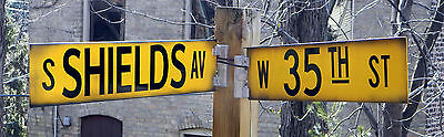 Chicago Vintage Reproduction Street Sign - 35TH & Shields -Baseball sox