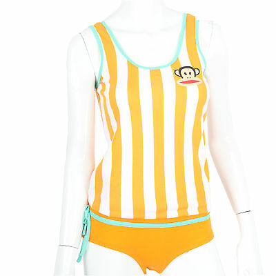 Julius & Friends Paul Frank $68 CAD Orange White Stripes PJ Tank Panty Sleep Set