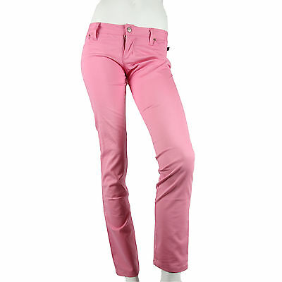 Julius & Friends Paul Frank $95 CAD Pink Ladies Pants Jeans Cotton Blend NWT