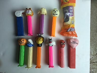 11 Pez Vintage Candy Dispensers 2 No Feet 1 Mip Skull