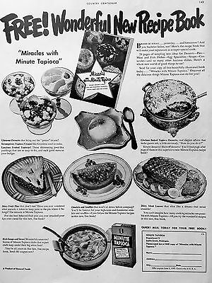 1948 MINUTE TAPIOCA Vintage Ad - Miracles with Minute Tapioca