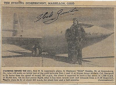 "1946/1947-Signed Newspaper Picture/signed Letter/newspaper Cartoon ""slick"" Goo"
