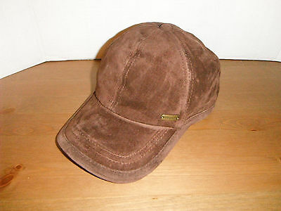 STETSON leather BASEBALL Cap Hat New BROWN