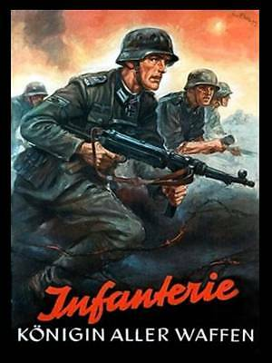 Infantry - King of the Waffen. Poster Photo WW2 Third Reich