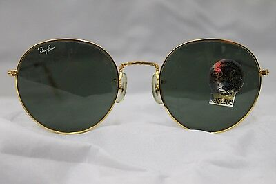 Vintage Ray Ban Round lennon style gold plated w0607 NOS!