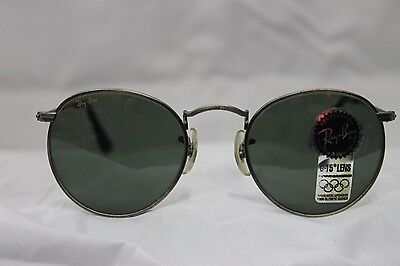 Vintage Ray Ban round antique bronce w1575 USA!!