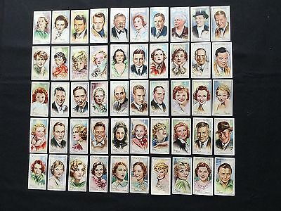John Player, Film Stars - Second Series.  Issued 1934. Complete Set Of 50