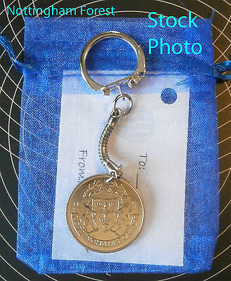 Nottingham Forest FC Football  Coin Keyring Gift unusual present ehgm