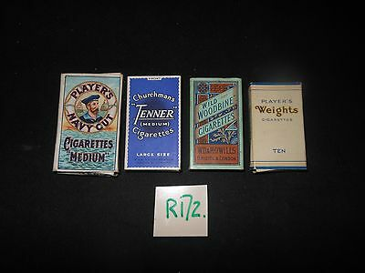 R172---Empty Cigarette Packets with slides.---For Sale in the UK ONLY