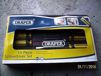 Draper Screwdriver Set 10 Piece New In Boxed Carry Case