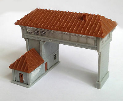 Outland Models Train Railway Layout Overhead Signal Tower(Double Track) Z Gauge