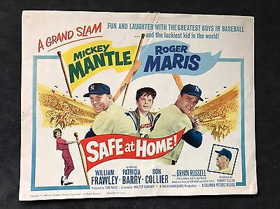 1962 Mickey Mantle Roger Maris Safe At Home Lobby Set