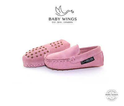 Baby loafers Baby moccasins - 100% Organic Suede shoes by BABYWINGS ®