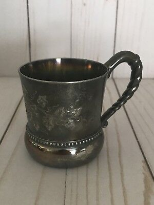 Vintage Homan Silver Plate Co Flower Cup