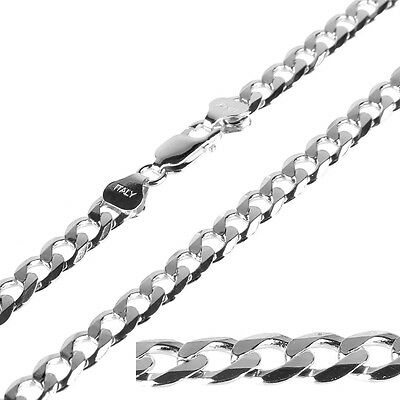 7.0mm 925 Solid Sterling Silver Curb Chain for Men Women Necklace 20 Inch 23g