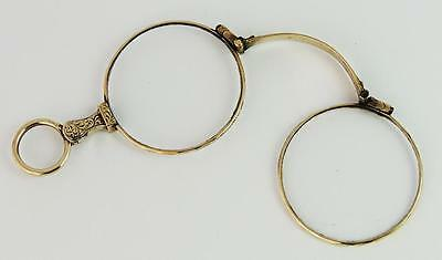 Victorian GOLD LORGNETTES SPECTACLES / GLASSES c1860