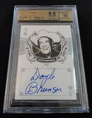 2009 Wheels Main Event Mark Doyle Brunson Autograph Clubs Auto BGS 9.5 Gem Mint